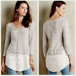 MOTH Anthropologie Aselin Shirttail Sweater